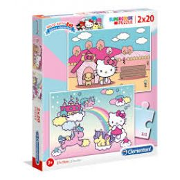 Clementoni 24765 Puzzle 2x20 dielov Hello Kitty