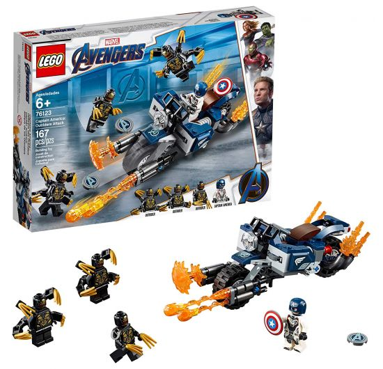 LEGO Captain America 76123 Outriders Attack