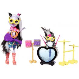 Mattel FCC62-FRH41 Enchantimals bábika Sage Skunk s Caper