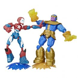 Hasbro E9197 Avengers figúrka Bend and Flex duopack Iron Patriot vs Thanos