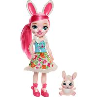 Mattel FRH51-FRH52 Enchantimals Bree Bunny  30 cm bábika so zajačikom Twist