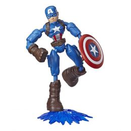 Hasbro E7377-E7869 Avengers figúrka Bend and Flex Captain America