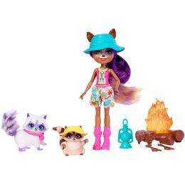 Mattel FCC62-FJJ29 Enchantimals bábika   Raelin Raccoon s Pester a Romy