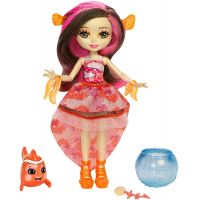 Mattel FKV54-FKV56 Enchantimals bábika Clarita Clownfish a rybka Cackle
