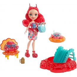 Mattel FKV58-FKV60 Enchantimals bábika Cameo Crab s rakmi Chela a Courtney