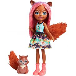 Mattel FNH22-FMT61 Enchantimals bábika Sancha Squirrel s veveričkou Stumper