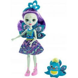 Mattel DVH87-FXM74 Enchantimals bábika Patter Peacock a Flap