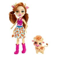 Mattel DVH87-FXM77 Enchantimals bábika Cailey Cow s Curdle