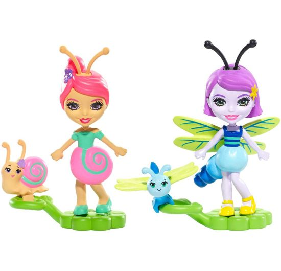 Mattel Enchantimals Chrobáčiky Dara Dragonfly a Swift s Saxon Snail a Dawdle