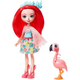 Mattel FNH22-GFN42 Enchantimals bábika Fanci Flamingo a plameniak Swash