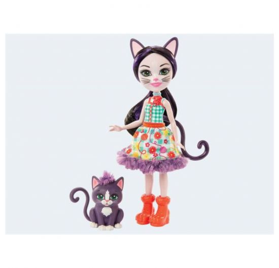 Mattel FNH22 - GJX40 Enchantimals Bábika Ciesta Cat a Climber
