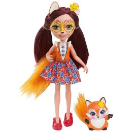 Mattel DVH87-DVH89 Enchantimals bábika Felicity Fox s líškou