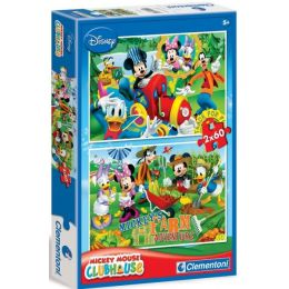 Clementoni 07106 Puzzle Mickey club 2 x 60 ks