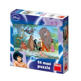 Dino 350069 Puzzle Kniha Dzungle 24 maxi